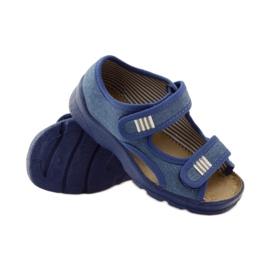 Papuče sandale Befado 113y010 plave boje plava 5