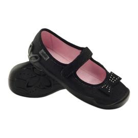 Befado dječje cipele papuče balerinke 114y240 crno siva 3