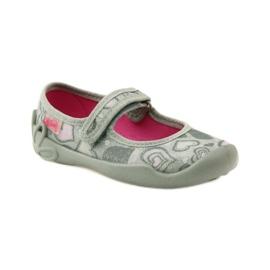 Balerinke papuče srca Befado 114x284 ružičasta siva 1