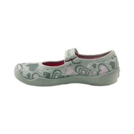 Balerinke papuče srca Befado 114x284 ružičasta siva 2