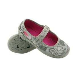 Balerinke papuče srca Befado 114x284 ružičasta siva 3
