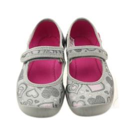 Balerinke papuče srca Befado 114x284 ružičasta siva 4