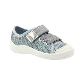 Befado dječje cipele tenisice papuče 251x097 siva plava bijela 1