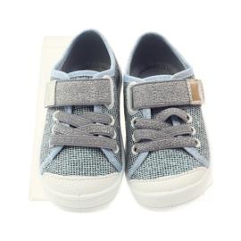 Befado dječje cipele tenisice papuče 251x097 siva plava bijela 4