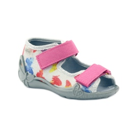 Befado dječje cipele sandale sandale 242p075 ružičasta siva 1