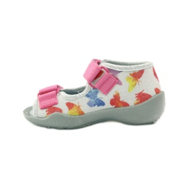 Befado dječje cipele sandale sandale 242p075 ružičasta siva 2