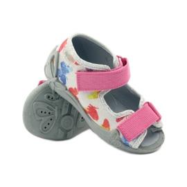 Befado dječje cipele sandale sandale 242p075 ružičasta siva 3
