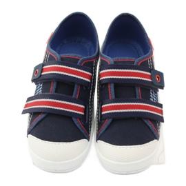 Papuče za dječake tenisice Befado 672Y058 mornarsko plava crvena bijela 4
