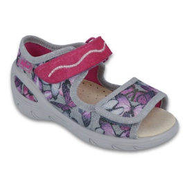 Befado dječje cipele pu 433X029 siva ljubičasta 1
