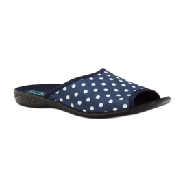Papuče Adanex plave pamučne točkice 1