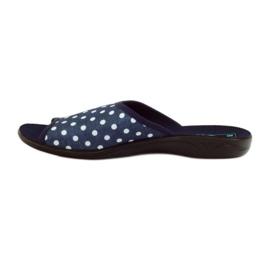 Papuče Adanex plave pamučne točkice 2