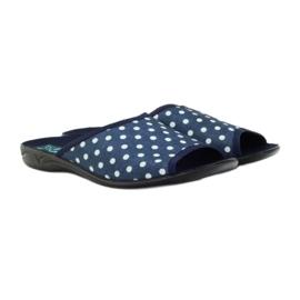 Papuče Adanex plave pamučne točkice 3
