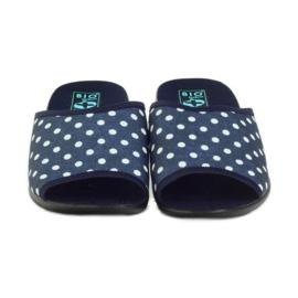 Papuče Adanex plave pamučne točkice 4