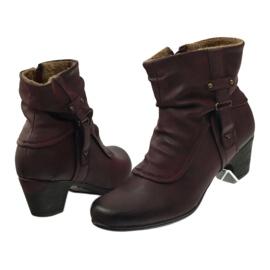 Čizme maroon super udobne Aloeloe 5