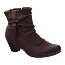 Čizme maroon super udobne Aloeloe 1