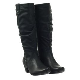 Čizme crne super udobne Aloeloe crna 3