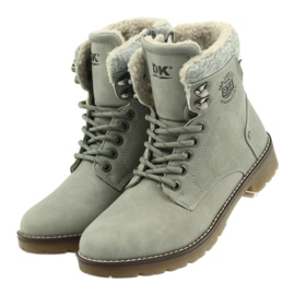 Sive, vezane cipele DK2025 siva 3