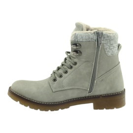 Sive, vezane cipele DK2025 siva 2