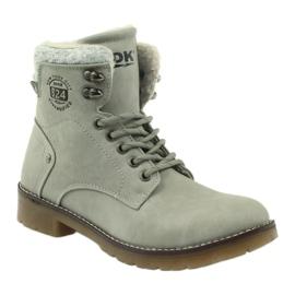 Sive, vezane cipele DK2025 siva 1