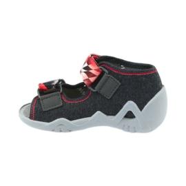 Befado dječje cipele sandale papuče 250p055 crvena siva 2