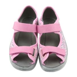 Befado dječje cipele sandale papuče 969x092 ružičasta siva 4