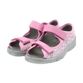 Befado dječje cipele sandale papuče 969x092 ružičasta siva 3