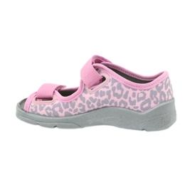 Befado dječje cipele sandale papuče 969x092 ružičasta siva 2