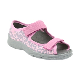 Befado dječje cipele sandale papuče 969x092 ružičasta siva 1