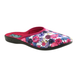 Papuče od velura Adanex 23773 šaren 1
