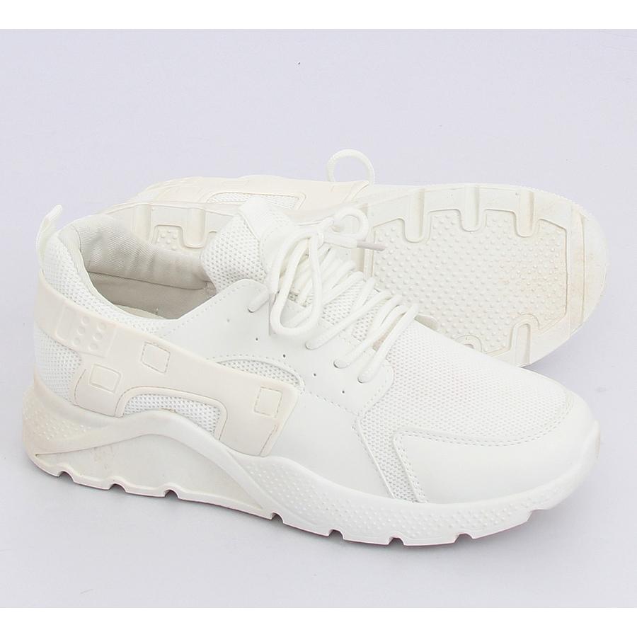 89588c2e6f07 Fehér LA18P fehér sportcipő - ButyModne.pl