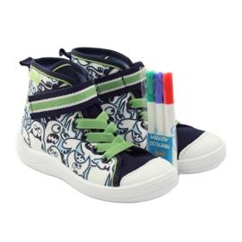 Befado dječja cipela uzorak za bojanje 268Y065 zelena mornarsko plava 5