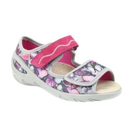 Befado dječje cipele pu 433X029 siva ljubičasta 2