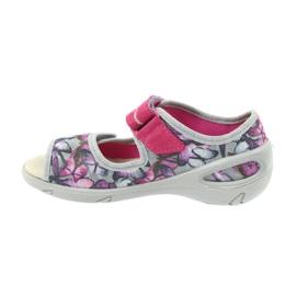 Befado dječje cipele pu 433X029 siva ljubičasta 3