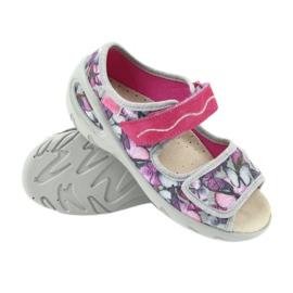 Befado dječje cipele pu 433X029 siva ljubičasta 4