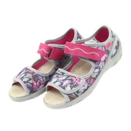 Befado dječje cipele pu 433X029 siva ljubičasta 5