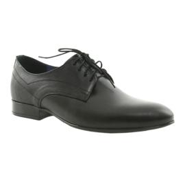 Muške klasične platnene cipele Nikopol 1693 crne crna 1