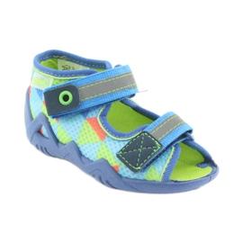 Papuče plavo zelene Befado 250P059 1