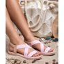 Seastar Udobne ženske sandale roze 3