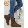 Smeđe ženske cipele 4169 Khaki slika 1