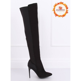 Crne čizme na visokim bedrima crne 0H010 crne crna 1