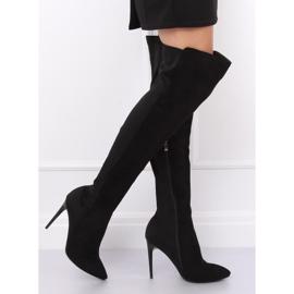 Crne čizme na visokim bedrima crne 0H010 crne crna 5
