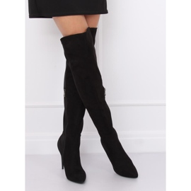 Crne čizme na visokim bedrima crne 0H010 crne crna 2