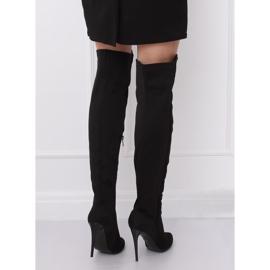 Crne čizme na visokim bedrima crne 0H010 crne crna 3