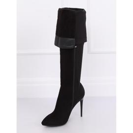 Crne čizme na visokim bedrima crne 0H010 crne crna 4