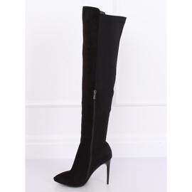 Crne čizme na visokim bedrima crne 0H010 crne crna 6