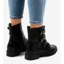 Crna Crne ženske čizme s kopčama S120 slika 2