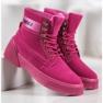 Yes Mile Zapletene modne čizme roze 3