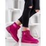 Yes Mile Zapletene modne čizme roze 5