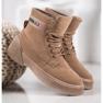 Yes Mile Zapletene modne čizme smeđ 4