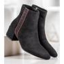 SHELOVET Suede čizme s ukrasnim pojasom crna 3